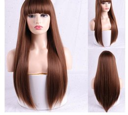 long light brown wig bangs UK - Long Silver White Women Wigs with Bangs Heat Resistant Synthetic Kinky Curly Wigs for Women African American