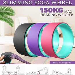 Discount yoga wheel Most Backbends Yoga Wheel,comfortable Wheel Support For Poses Prop & Strongest Yoga For 13 Stretching Comfortable ABC200