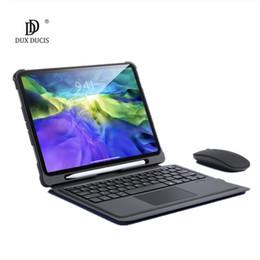 Venta al por mayor de Funda de teclado inalámbrico para iPad Pro 11 2020 2018 iPad Air 3 10.5 10.2 10.9 2020 9.7 Cubierta del teclado táctil de la estela del sueño automático plegable.