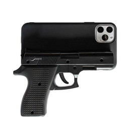 iphone toy case UK - Luxury 3D Funny Gun Phone Case for iphone 11 Pro Max X 7 8 Plus Xr Xs max Silicone pistol Toy Phone Cover