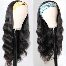 Wholesale brazilian girls resale online - Ishow Human Hair Wigs With Headbands Body Straight Water Headband Wigs Kids Wig Loose Deep Curly Machine Made None Lace Wigs Boy Girl