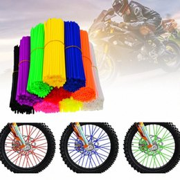 spoke decoration NZ - Motorcycle Accessories 72 Pcs Universal Spoke Skins Covers Dirt Bikes Motorcycle Wheel Spoke Decoration Protection Cover TZxV#