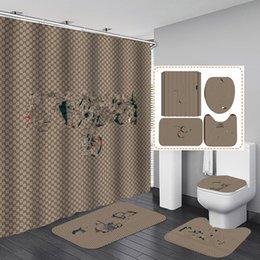 Toptan satış Oda Perde Salon Yatak Odası Bay Panjur Avrupa Retro Tarzı Baskı Moda Perde Banyo Halı Suit Duş