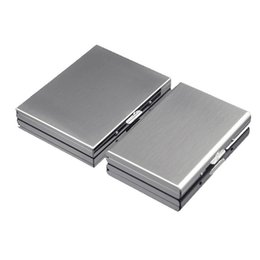 Cigarettes Case 302 Stainless Steel Containers New Pattern Originality Silver Plated Storage Box Gifts Company Free Shipping 11hy F2 on Sale