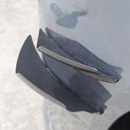 4pcs / Set Universal Carbon-Faser-Frontstoßstange Karosserie Spoiler Canards Splitter Flossen Kits im Angebot