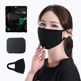 Wholesale cloths for women resale online – Black Cotton Mask Classic Fashion Face Masks Washable Reusable Dustproof Cloth Mask For Man Woman Protective Products