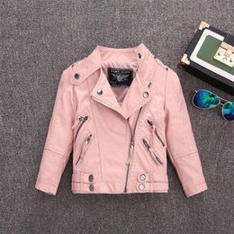 Wholesale sells leather jackets resale online – 2 Y HOT selling new Pu leather jackets for baby girl and boys loose good quality children coats kids spring sutumn tops ws410 Y200831
