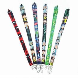 Wholesale Cartoon Anime Rick Morty Lanyards Cartoon key Chain Neck Strap Keys Camera ID Card CellPhone strings