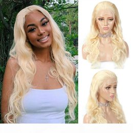 blonde body wave full lace NZ - Brazilian hair 613 color Lace Front wigs Body Wave Blonde Full Lace Human Hair Wigs Pre Plucked Natural Hairline