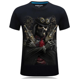 Wholesale pirate clothes online – ideas Mens Designer T Shirts D printing stereo domineering tshirt personality designer clothes round neck t shirt luxury pirate men shirts
