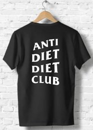 undefeated shirt Australia - Anti Diet Diet Club T-shirt Undefeated And Inspired Design Unisex Top summer o neck tee free shipping cheap tee2019 hot tees