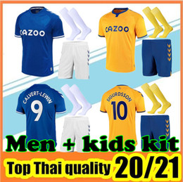 boy army uniform 2021 - 20 21 EVE Soccer Jerseys Home Blue Away Yellow 2020 2021 MEN KIDS Football Shirt boy Uniforms kit+socks cheap boy army u