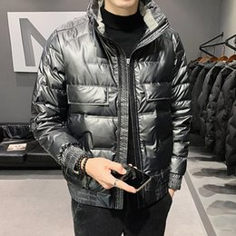 2020 new fall fashion young couple down jacket collar