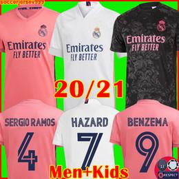 REAL MADRID трикотажные изделия 20 21 футбольный трикотаж HAZARD SERGIO RAMOS BENZEMA VINICIUS camiseta футболка форменная мужские + детские комплекты 2020 2021 на Распродаже