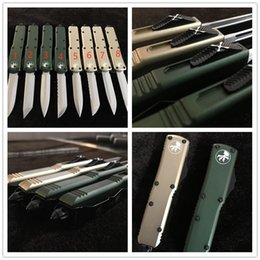 8models Combat MICRO - TECH A10 UTX85 Benchmade bm3300 BM3500 A07 Aluminum handle Pocket knife Amusing tactical camping EDC cutting to SHMr#