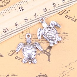 antique turtle necklace Australia - 8pcs Charms tortoise turtle sea 26x23mm Antique Pendants,Vintage Tibetan Silver Jewelry,DIY for bracelet necklace