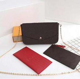 Wholesale Woman bag handbag purse original box date code fashion wholesale plaid plaid old flower bag