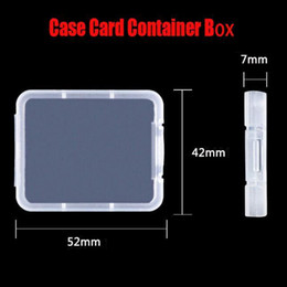 shatter tool NZ - Cf Package Card Case Protection Storage Boxs Memory To Card Tool Transparent Plastic Container Container Carry Shatter Box Easy yxlBy