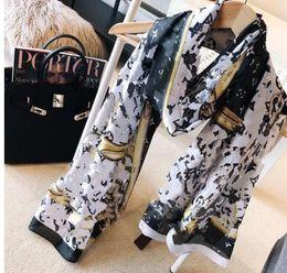 Toptan satış Kadınlar Marka Harf Tasarımı Eşarplar Şal Pashmina Yaz Büyük Tesettür Atkı İçin Bayanlar 180x90cm T634 için sıcak Tasarımcı ipek Uzun Eşarp