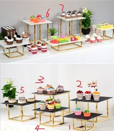 animal stands Australia - glossy gold Iron rack with acrylic holder for party dessert candy cookie cupcake holder wedding flowers cake stand buffet banquet decoration