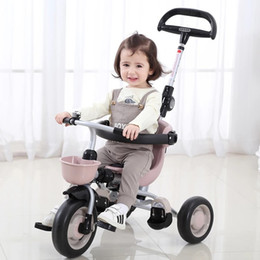 three years old babies 2020 - 2020 Kids Tricycle Pedal Bicycle 1-3 Years Old Lightweight Folding Baby Stroller Baby Bike Three Wheel Trikes cheap thre