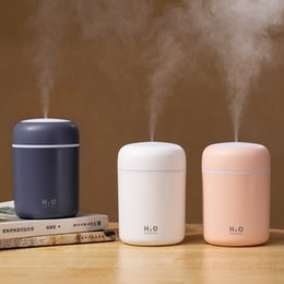 mini usb ultrasonic air humidifier UK - USB air Humidifier Colorful Cup Mini Aroma Water Diffuser LED Light Ultrasonic Cool Mist Maker Fogger Car Aroma Humidificador