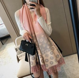 Wholesale poncho patchwork resale online - Designer Scarfs women luxury scarf Shawls High quality cashmere scarf winter Scarfs CM Colors