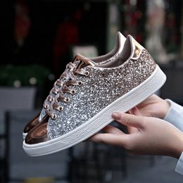Summer Shiny Mirror Shoes Women Breathable Outdoor Casual Women Shoes Low Trainers Casual Sneakers Fashion Joker Zapatos Zqc3#