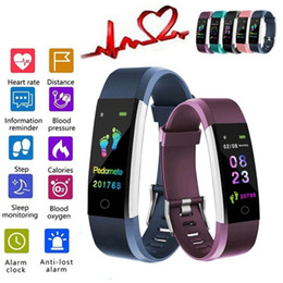 Discount pk fitbit ID115 fitbit color Screen smart watch Fitness Sports smartwatch Heart Rate Monitoring Step Calculation Alarm Clock pk ap