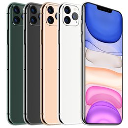 Wholesale Goophone 11ProMAX 6.5Inch Full Screen Phone 1+8GB Memory Double SIM Card Smartphone Face ID Smartphone débloqué Fingerprint Cell Smartphones