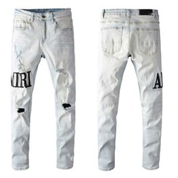 Wholesale teenagers fashion clothing online – oversize 2020 mens designer jeans Pocket Designer Mens Pants Fashion Distrressed Washed Teenagers Jeans Male Clothing men denim pants