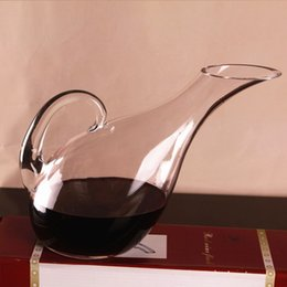 tracking glasses Australia - 1300ml Swan Shaped Glass Wine Decanter Aerating Jug Liquor Container Dispenser Wine Carafe Bar Tools Gift Free Shipping order<$18no track