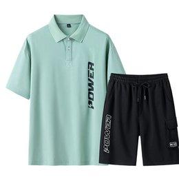 Wholesale 2pcs set sport tracksuit for sale – designer Men Tracksuit Sets Male Outdoor Running Sports Suit Summer Men s short sleeved T Shirt Shorts Suits Sportswear Clothing