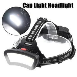 adjustable headlamp NZ - COB LED Headlamp Nitecore Powerful Bright Headlights 4 Gears Adjustable Angle Climbing Cycling Camping Light with Batteries