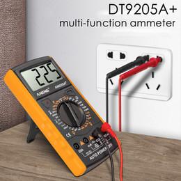 DT9205A + Dijital Multimetre AC / DC Profesyonel Transistör Test Cihazı Elektrik ESR NCV Test Metre Analog Otomatik Aralığı Multimetro
