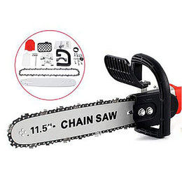 chain wrenches Australia - 11.5inch Electric Chainsaw Bracket Adjustable Universal M10 M14 Chain Saw Part Angle Grinder Into Chain Saw