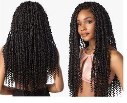 18inch Long Passion Twist Crochet Hair Extensions Synthetic Water Wave Braiding Hair Bohemia Crochet Braids Golden Beauty