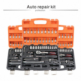 car repair tool set mechanic tools box hand kit socket professional wrench with ratchet auto kits herramientas screwdrivers 70WY# on Sale