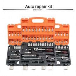 Wholesale car repair tool set mechanic tools box hand kit socket professional wrench with ratchet auto kits herramientas screwdrivers 70WY#