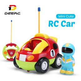 electric car toy baby NZ - Holy Stone RC Car with Music Lights Cartoon Race Electric Radio Remote Control Car Toys for Baby Boy Toddlers Kids & Children LJ200918
