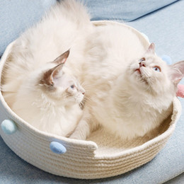 Wholesale cat boards online – design All Seasons Available Handmade Cotton Cat Bed For Kitten Deep Sleep Cat Board Pet House