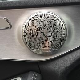 Venta al por mayor de Accesorios Cubierta para altavoz 4pcs Car Audio moldura de la puerta Altavoz ajuste de la cubierta interior del coche para Mercedes Benz E / C / GLC Clase W213 W205