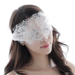 half eyelashes Australia - Womens Sexy Semi See-through Floral Lace Eye Mask Hollow Out Eyelash Trim Solid Color Cosplay Lingerie Wide Eyepatch with