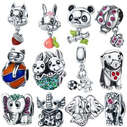 sterling silver panda charm Australia - INBEAUT New Fashion 925 Sterling Silver Cute Animal Hand-made Lovely Cartoon Panda Beads Charms fit Brand Bracelet