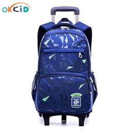 backpack for wheel 2020 - Boy Detachable Bags For Stair With Kids Backpack School Trolley Wheels Rolling Bag Climbing Boys Book Gift Backpack Scho