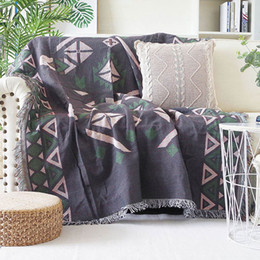 bohemian home decor NZ - Bohemian Knitted Decorative Sofa Blanket Thread Blanket for Beds Soft Bed Vintage Home Decor Tapestry Sofa Cover