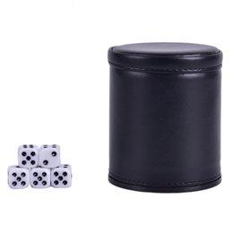 venda por atacado Supplies Trade 2020 PU Foreign Leather flanela Mute Dice Cup Bar Jogo