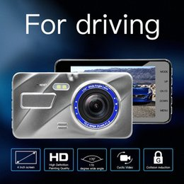 car rear camera lens UK - 170 Degree Wide Angle 4.0 Inch 1080P HD Dual Lens Tachograph Rear View Camera Car DVR HD Video Recorder Data Recorder 5 FmuX#