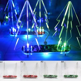 make electronics 2020 - DIY Christmas Tree kit Colorful Easy Making LED Light Acrylic Christmas Tree with Music Electronic Learning Kit Module T