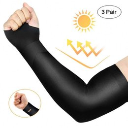 arm sleeve covers women Canada - 3 Pairs Summer Arm Sleeves Outdoor Sport Cycling Breathable UV Sun Protection Fishing Cycling Ski Golf Arm Cover for Men Women